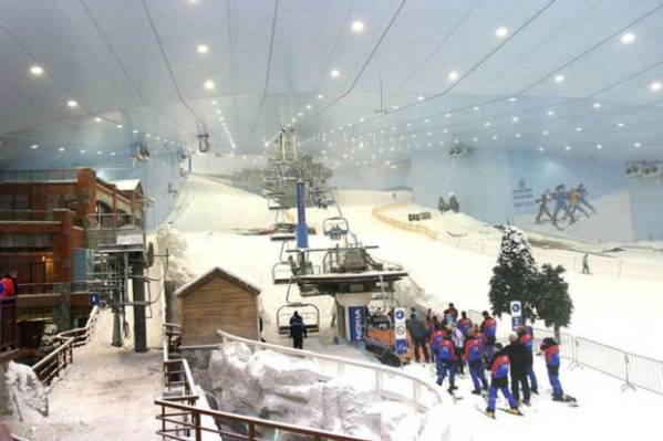 Britain's biggest indoor ski slope will be built next to the Olympic Park under plans being drawn up by shopping centre developer Westfield, Boris Johnson said on Thursday.