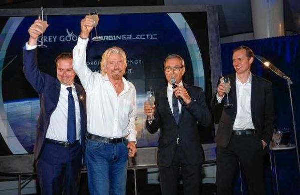 Bacardi has signed a deal with Virgin Galactic to make its vodka brand Grey Goose the official spirit of the Richard Branson-backed commercial spaceflight project