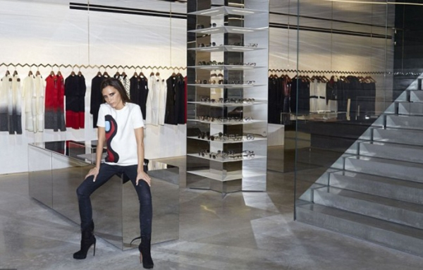Victoria Beckham has opened her first fashion store at 36 Dover Street in London's Mayfair