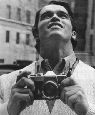 Arnold Schwarzenegger seeing New York City for the first time. [1968]