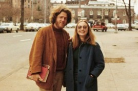 Bill and Hillary Clinton as college sweethearts at Yale. [1970s]