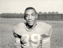 Bill Cosby when he played fullback in college for the Temple Owls. [1961]