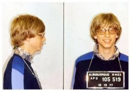 Bill Gates' mug shot. [1977]