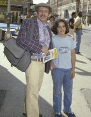 Jerry Stiller and his son, Ben Stiller, on a trip to New York. [c. 1978]