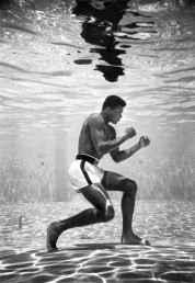 Muhammad Ali, then still Cassius Clay, training in a pool at the Sir John Hotel in Miami. [1961]