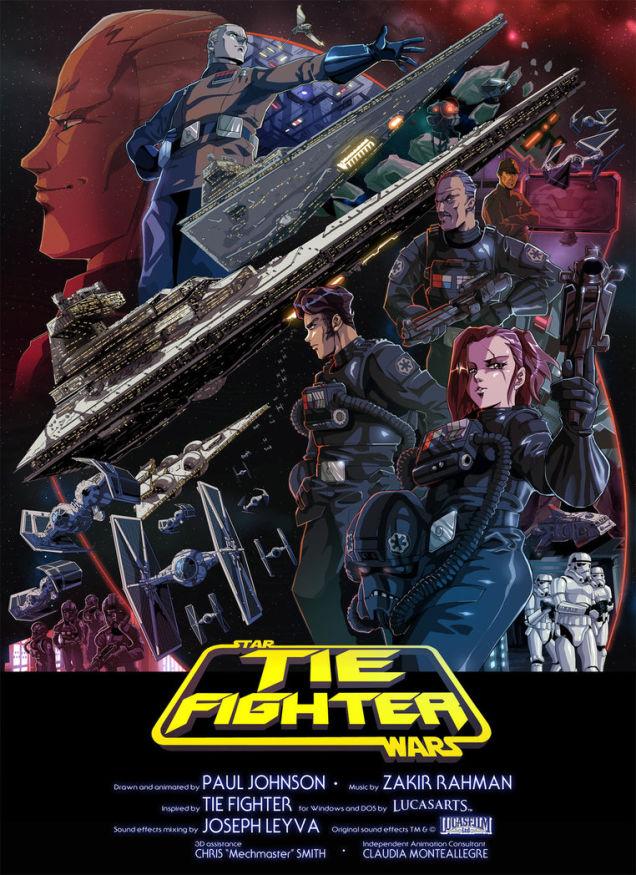 Star Wars Tie Fighter Animation 2016