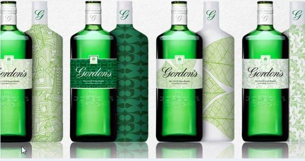 Diageo has redesigned its Gordon's gin bottle in the UK in an effort to give the brand a more contemporary, premium look.