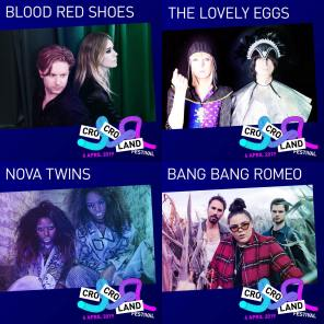 Cro Cro Land, Music Festival, Croydon, Cronx, Croydonist, BLOOD RED SHOES, THE LOVELY EGGS, NOVA TWINS, BANG BANG ROMEO, MOSES, CHORUSGIRL, SISTERAY, BUGEYE, FIGHTMILK, FERAL FIVE, BERRIES, ARXX, FRAGILE CURES, SMILEY & THREATE UNDERCLASS 1