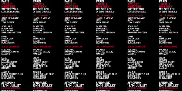 AFROPUNK, AFROPUNK PARIS, LINE UP, WE SEE YOU, JANELLE MONAE, IBEYI, TIWA SAVAGE, BURNA BOY, SOLANGE, RAPHAEL SAADIQ