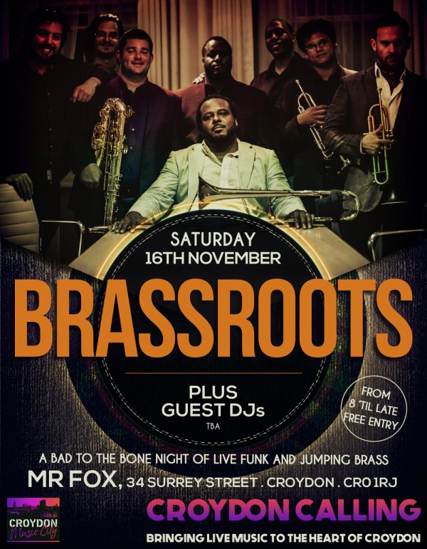 Croydon, Music City, Croydon, Timeout London, Phase, Mixmag, BRASSROOTS, MR FOX