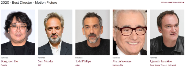 Golden Globes, Quentin Tarantino, Martin Scorsese, Todd Phillips, Sam Mendes, Bong Joon Ho, Motion Picture.png